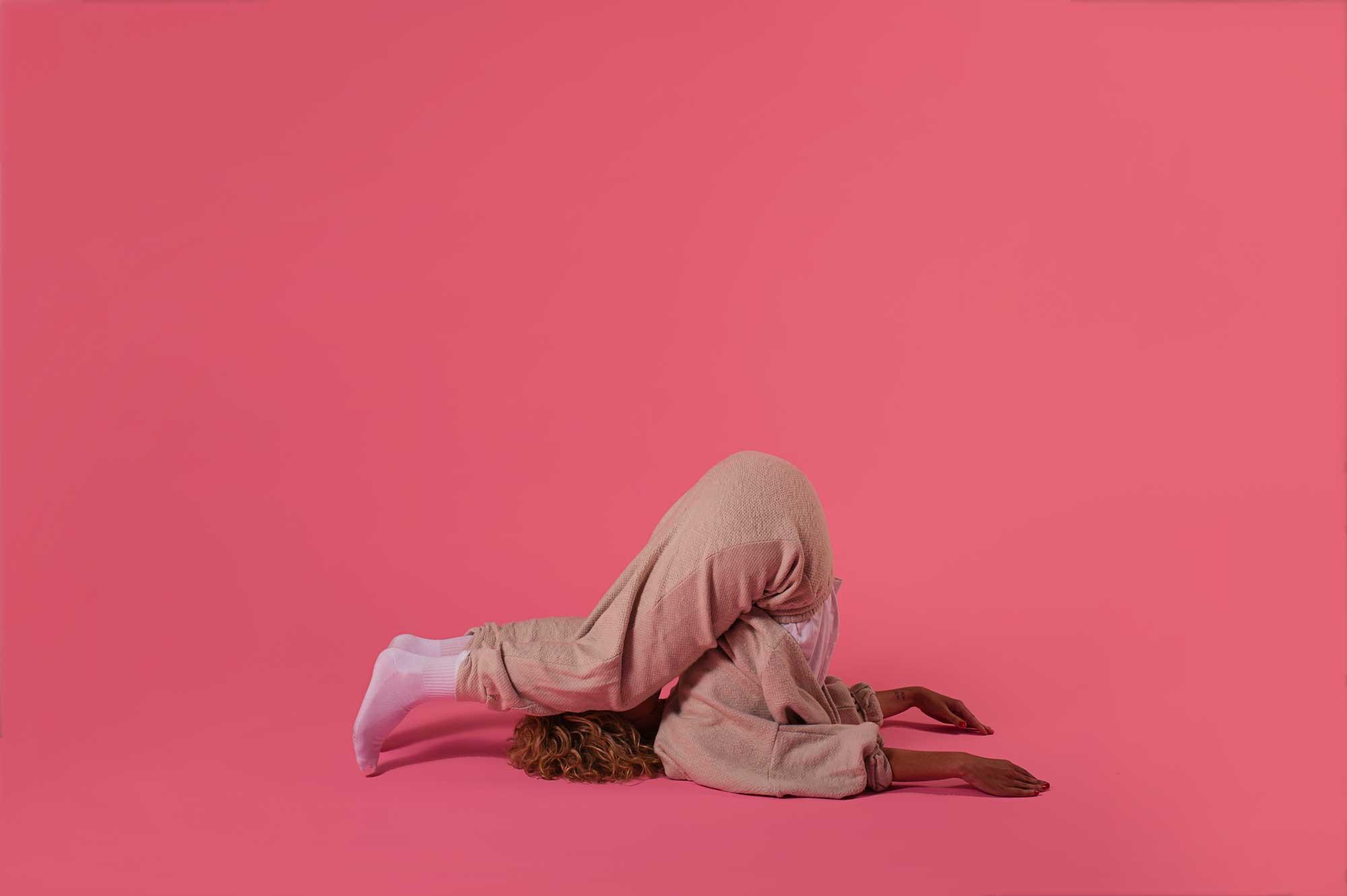 Xani with legs over head
